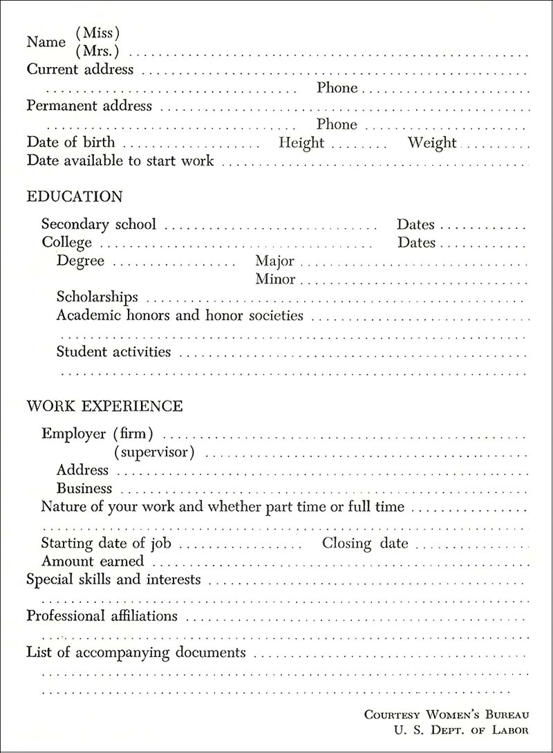 The Résumé May Or May Not Accompany A Letter Of Application. It Depends On  Whether An Interview Has Been Arranged Through A Friend, A Social Contact,  ...  Resume For Full Time Job